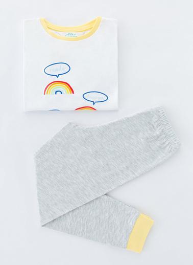 Penti Çok Renkli Erkek Çocuk Colorful Space Ls- 4Lü Pijama Takımı Renkli